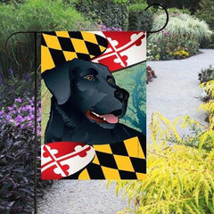 Maryland Black Lab / Garden Flag