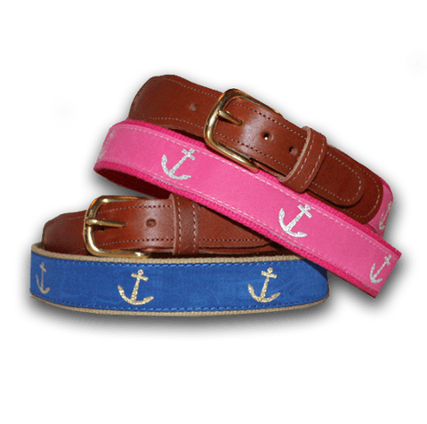 Blue Nautical Anchor / Belt - Route One Apparel