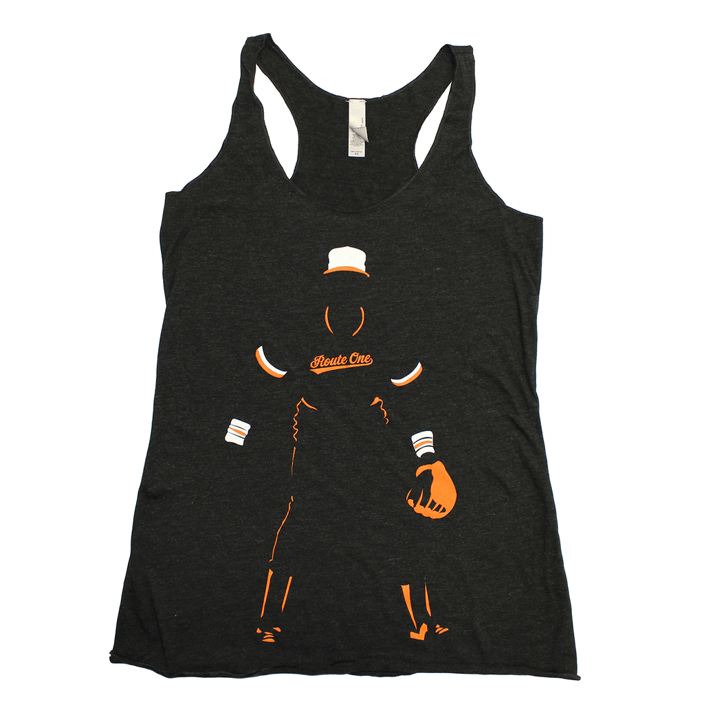 Baltimore Baseball Silhouette (Black) / Ladies Tank - Route One Apparel