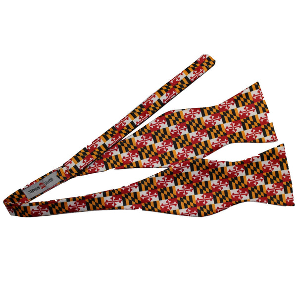 Maryland Flag (Small Pattern) / Self-Tie Bowtie