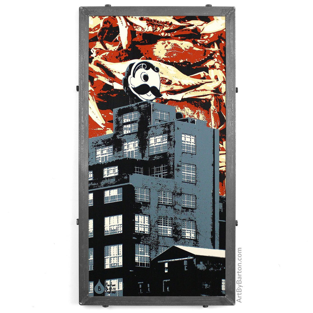 Crabby Boh Building / Art Print - Route One Apparel
