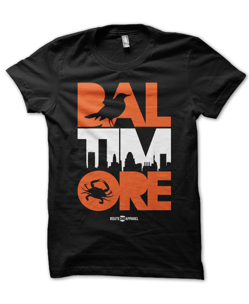 Baltimore Icon Orange & White (Black) / Shirt