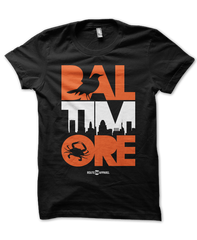 Baltimore Icon Orange & White (Black) / Shirt - Route One Apparel