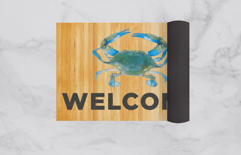 Blue Crab Welcome / Door Mat - Route One Apparel