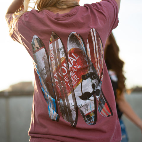 Natty Boh Can Surfboards (Brick) / Shirt