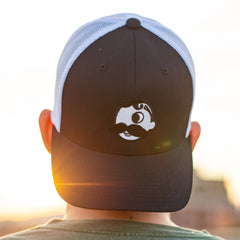 Natty Boh Logo (Black w/ White Mesh) / Trucker Hat