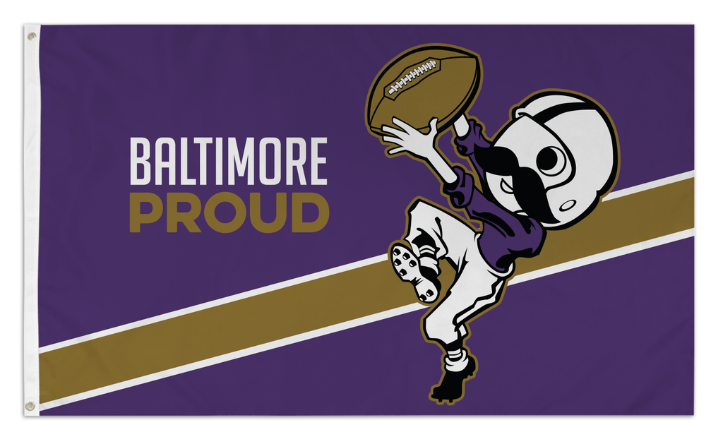 Baltimore Proud Boh (Purple) / Flag - Route One Apparel