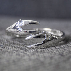 Crab Claw (Silver) / Bangle Bracelet