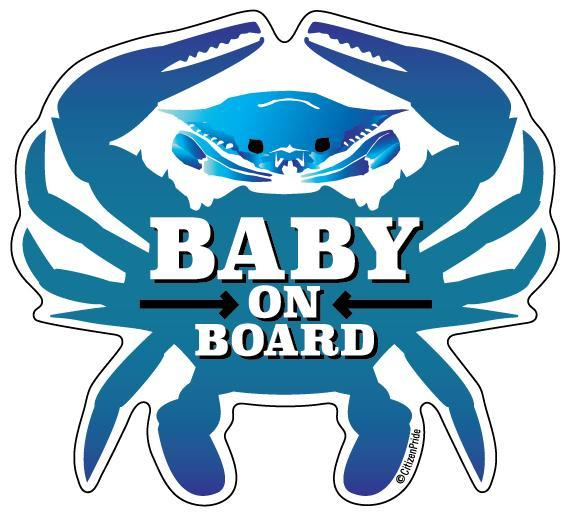 Baby On Board Crab / Sticker