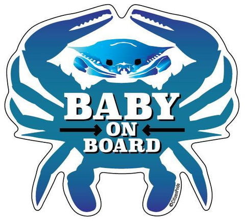 Baby On Board Crab / Sticker - Route One Apparel