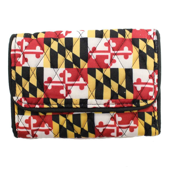 Quilted Maryland Flag / Compact Wallet