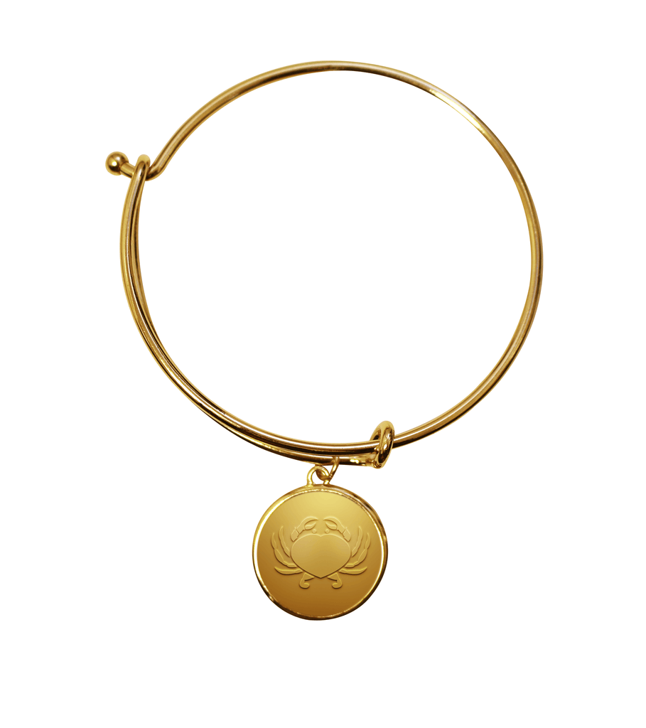 Maryland Crab Heart (Gold) / Adjustable Bangle Bracelet