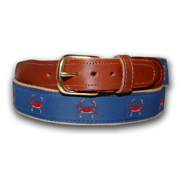 Blue & Red Crab / Belt - Route One Apparel