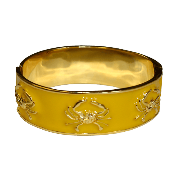 Enamel Crab (Yellow/Gold) / Bangle Bracelet