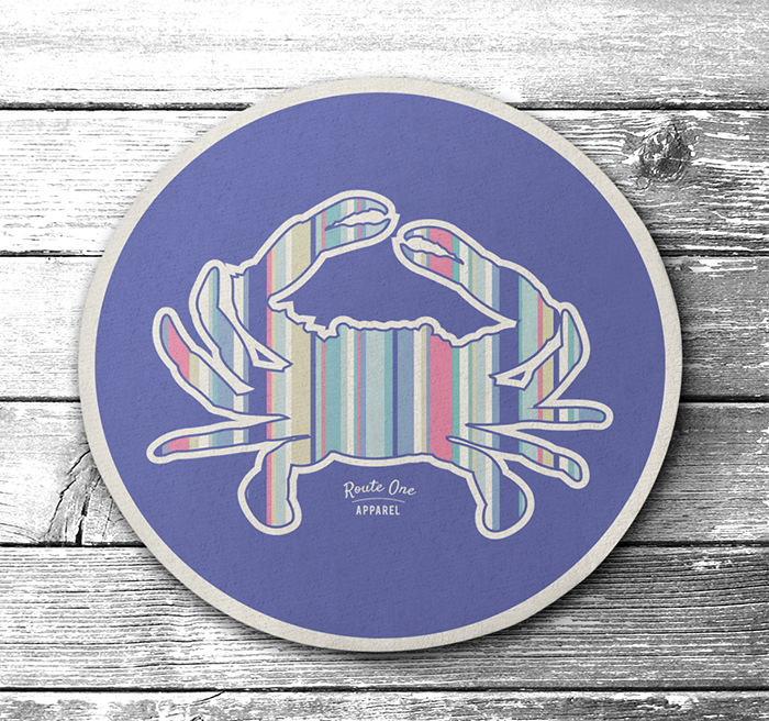 Stripe Crab (Pastel Purple) / Cork Coaster
