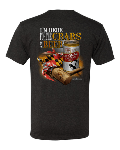 *PRE-ORDER* I'm Here for the Crabs & Beer (Dark Grey) / Shirt - Route One Apparel