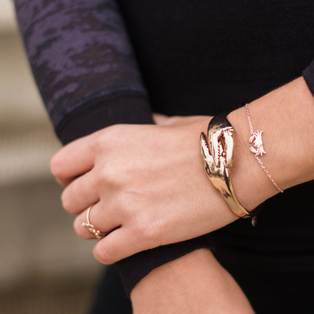 Crab Claw (Rose Gold) / Bangle Bracelet - Route One Apparel