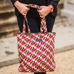 Quilted Maryland Flag / Tote Bag