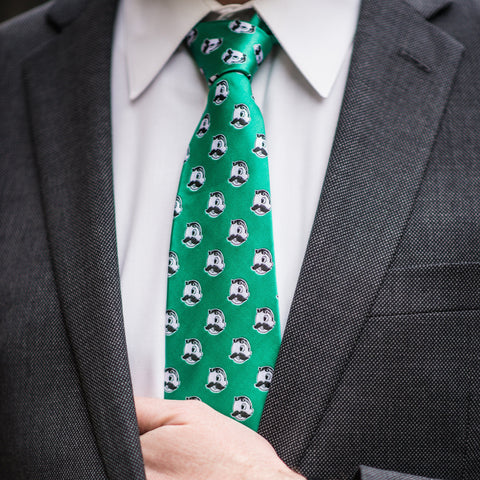 Embroidered Natty Boh Logo Pattern (Green) / Tie