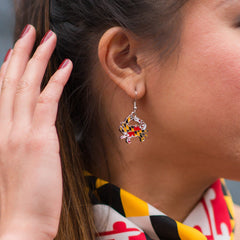 Maryland Full Flag Crab / Earrings
