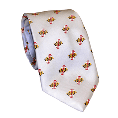 Embroidered Waving Maryland Flag (Silver) / Tie