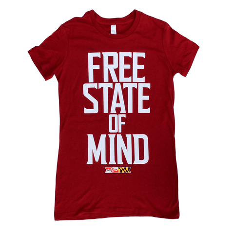 Free State Of Mind (Red) / Ladies Shirt