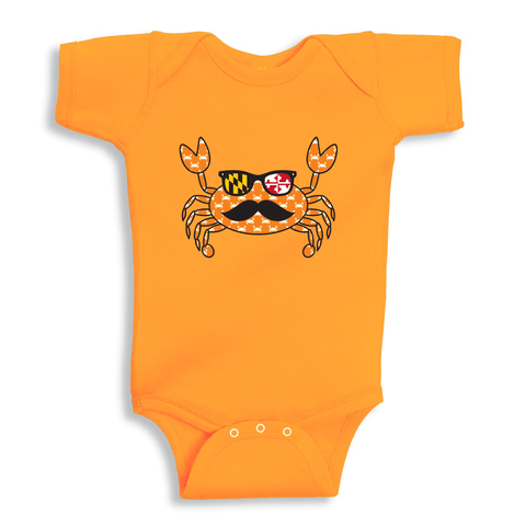 Halloween Fun Crab Disguise (Orange) / Baby Onesie