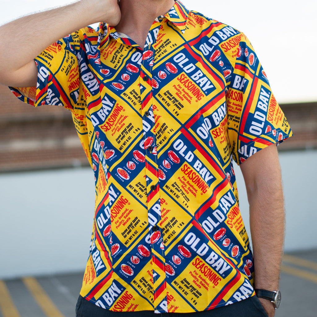 Old Bay Can Pattern / Hawaiian Shirt