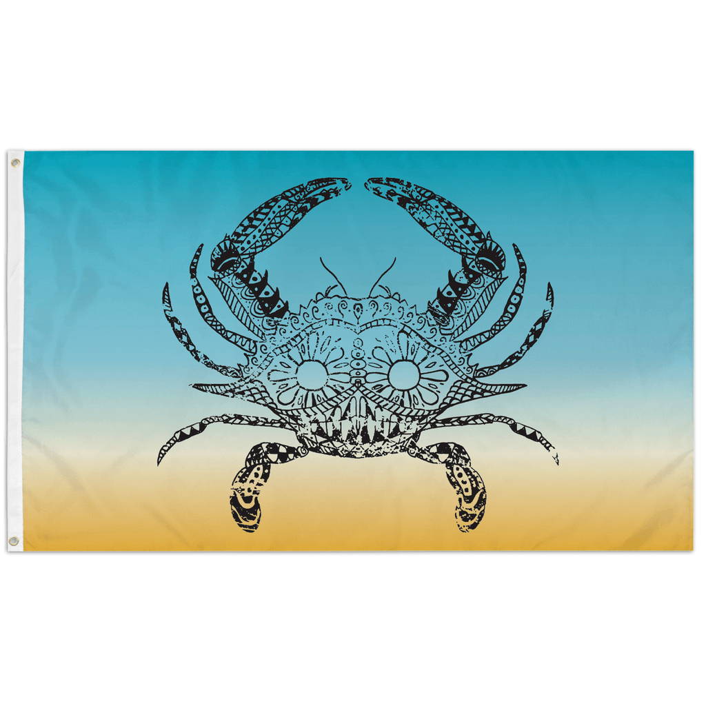 Henna Crab (Teal Beach) / Flag