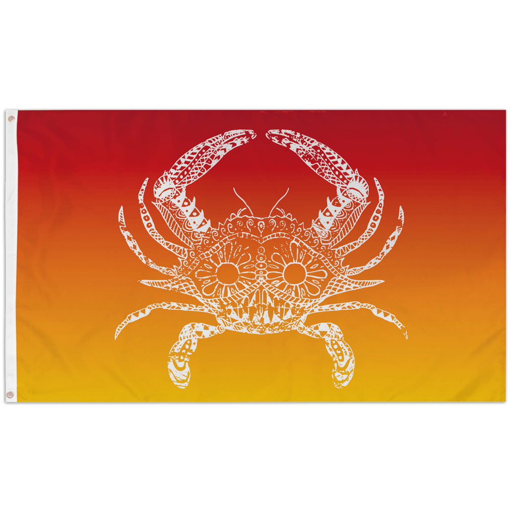 Henna Crab (Sunset Red) / Flag