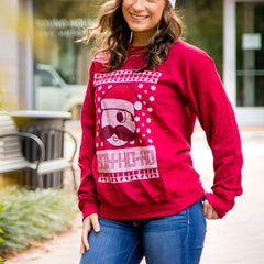 Boh Ho Ho (Cardinal Red) / Crew Sweatshirt - Route One Apparel