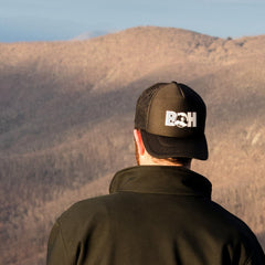 Basic Boh Logo Text (Black) / Trucker Hat - Route One Apparel