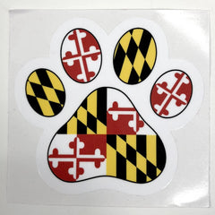 Maryland Paw Print / Sticker