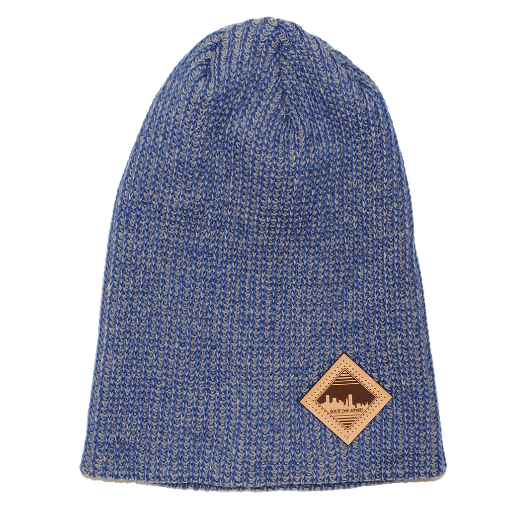 Baltimore Skyline (Harbor Blue) / Knit Beanie Cap - Route One Apparel