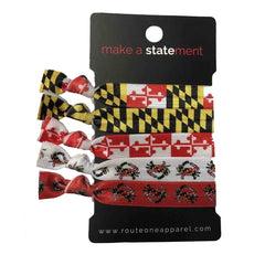 Maryland Flag (Style 1) / 5-Piece Hair Tie Set