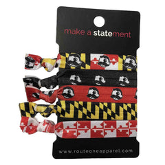 Maryland Flag Natty Boh / 5-Piece Hair Tie Set