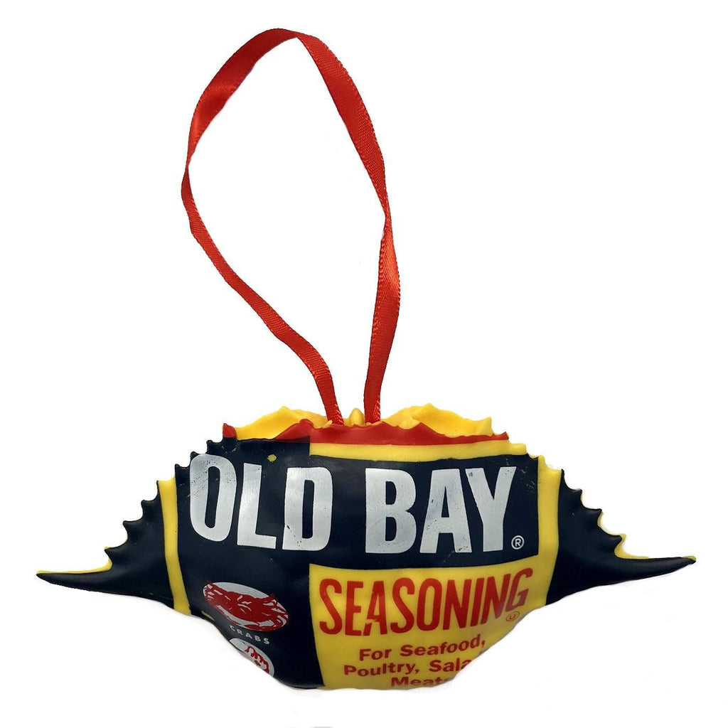 Old Bay Can /  Crab Shell Ornament