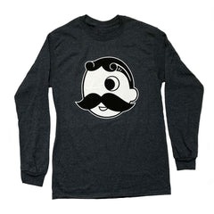 Natty Boh Logo (Dark Heather Grey) / Long Sleeve Shirt