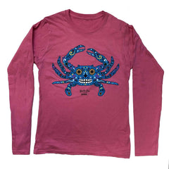 Sugar Skull Crab (Azalea) / Ladies Long Sleeve Shirt