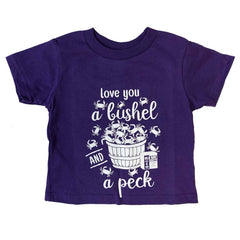 Love You A Bushel & A Peck (Purple) / *Toddler* Shirt