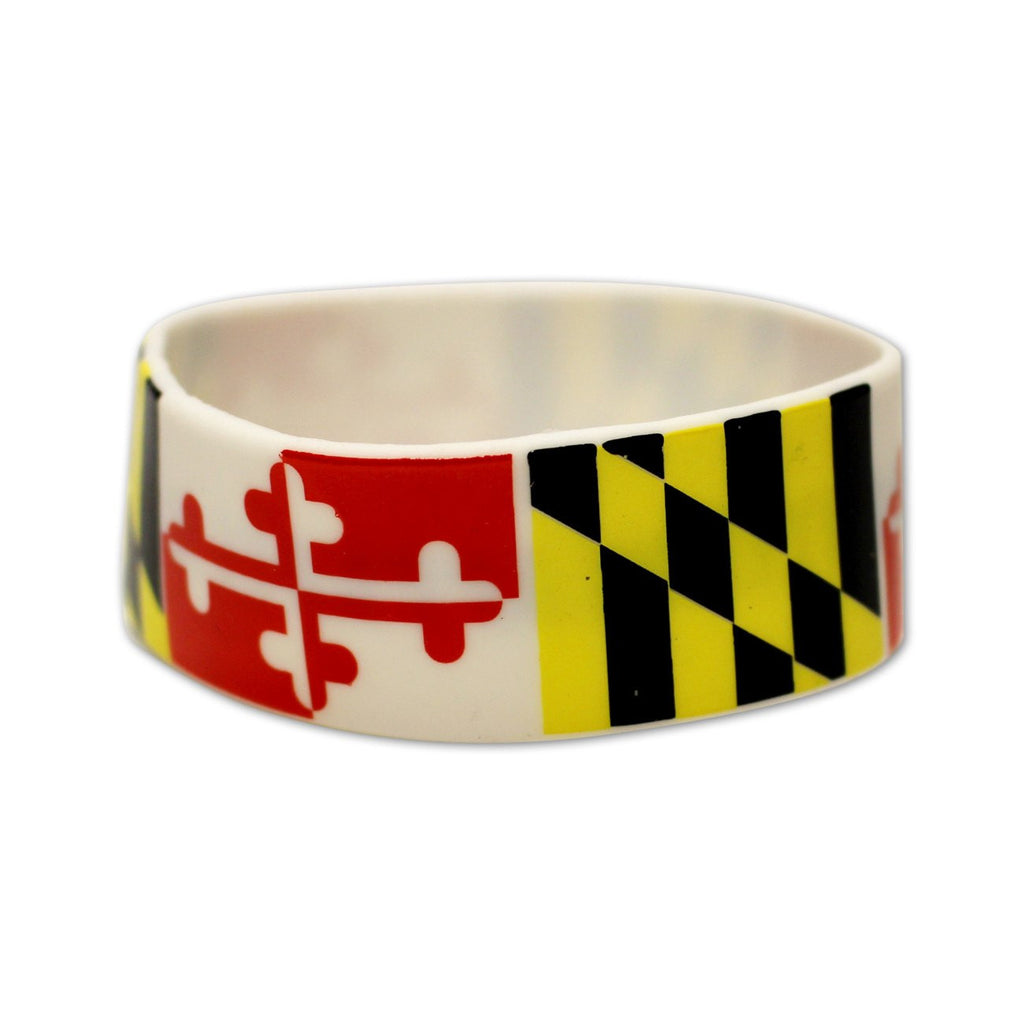 Maryland Flag / Wide Bracelet