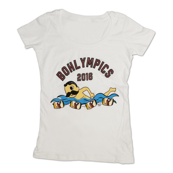 Bohlympics 2016 (White) / Ladies Scoop Neck Shirt - Route One Apparel