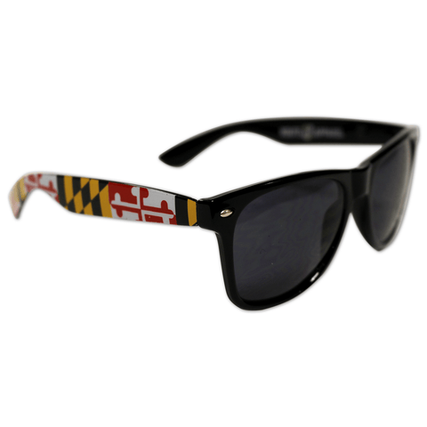 Black Maryland Full Flag / Shades - Route One Apparel