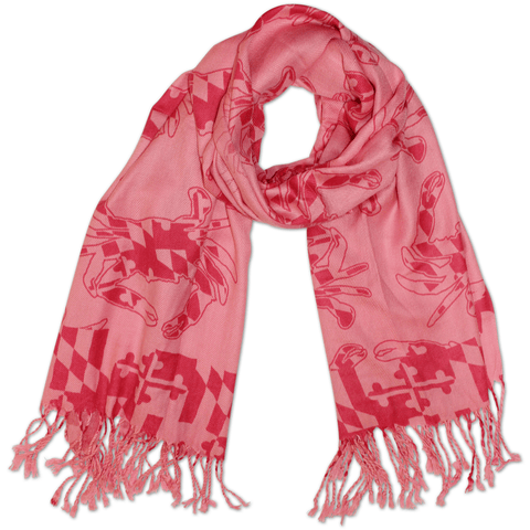 Maryland Crab Pattern *Pink Edition* (Pink) / Scarf