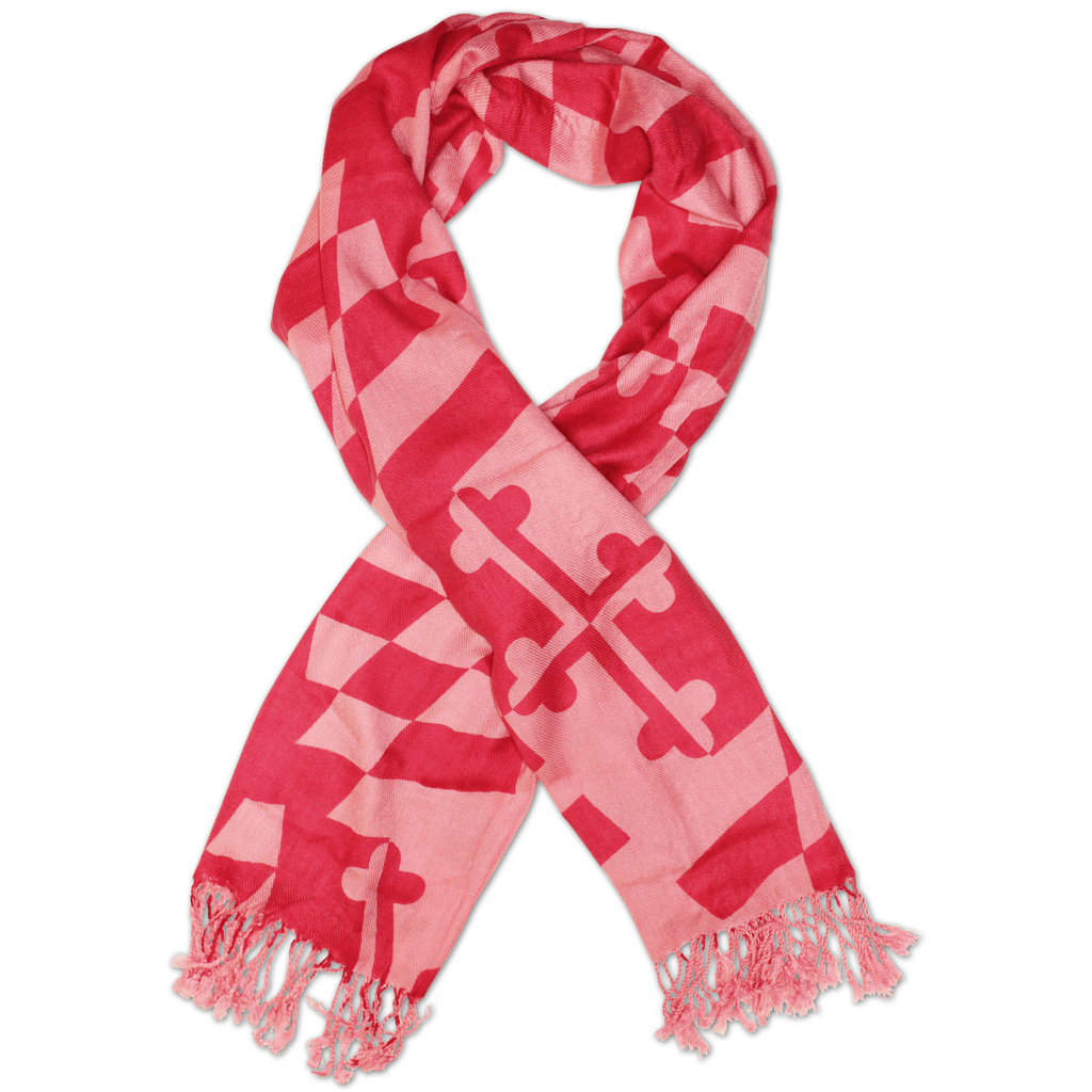 Pink Two-Tone Maryland Flag / Scarf