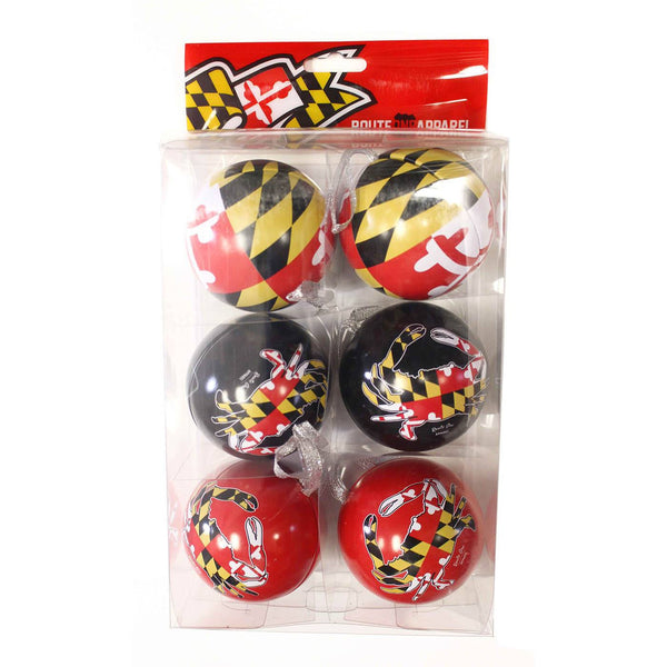 Maryland Flag & Crab Pack / 6-Pack Ornaments