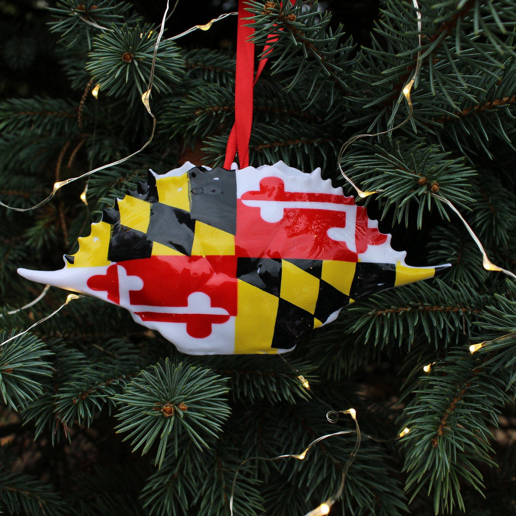Maryland Flag Crab Shell Ornament – Route One Apparel