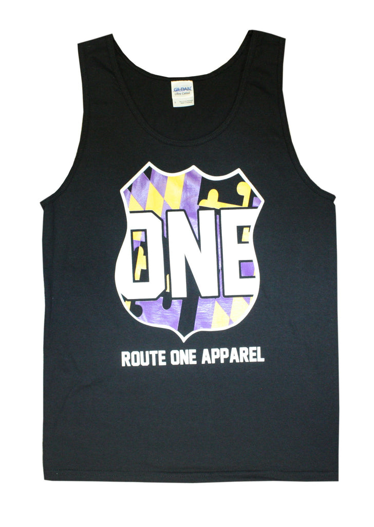 Baltimore Purple & Gold One Shield / Tank - Route One Apparel