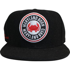 Maryland Born Maryland Bred (Black) / Wool Snapback Hat