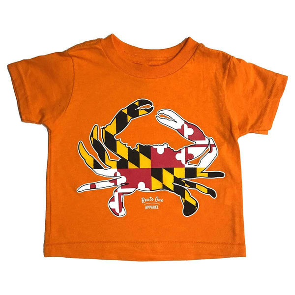 Maryland Full Flag Crab (Orange) / *Toddler* Shirt
